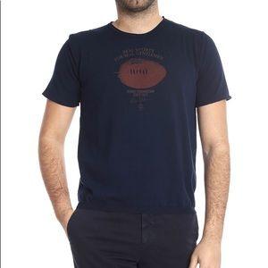 Eleventy Dark Blue Rugby Foundation T-Shirt Large